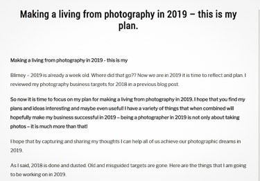 Making a living from photography in 2019