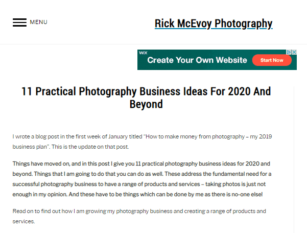 11 Photography Business Ideas