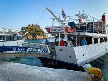 What is a day trip from Parga to Corfu Towen like?