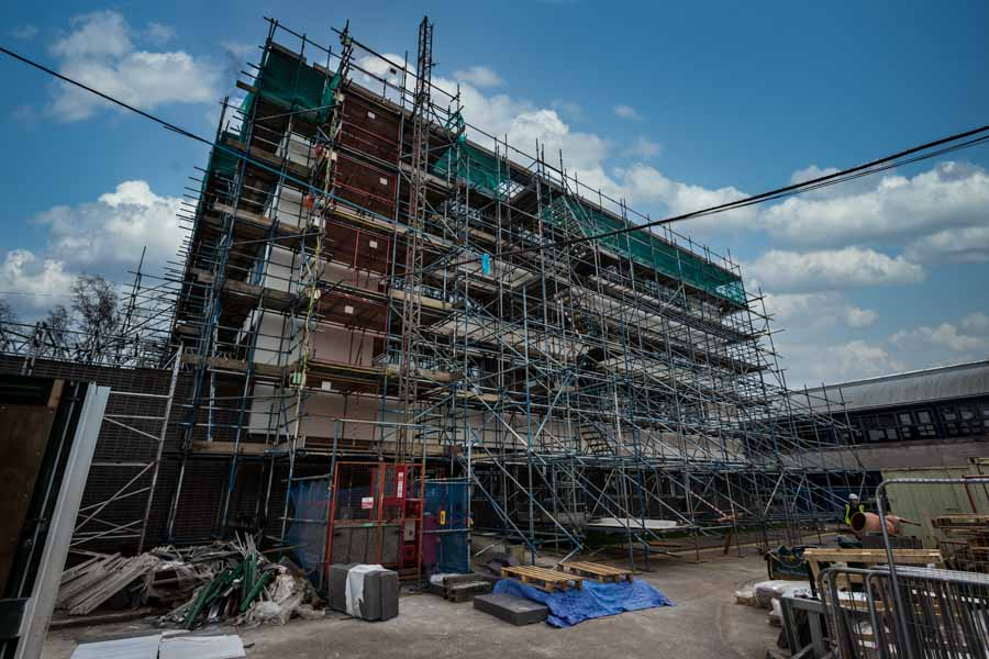 Scaffolding at Horndean Technology College