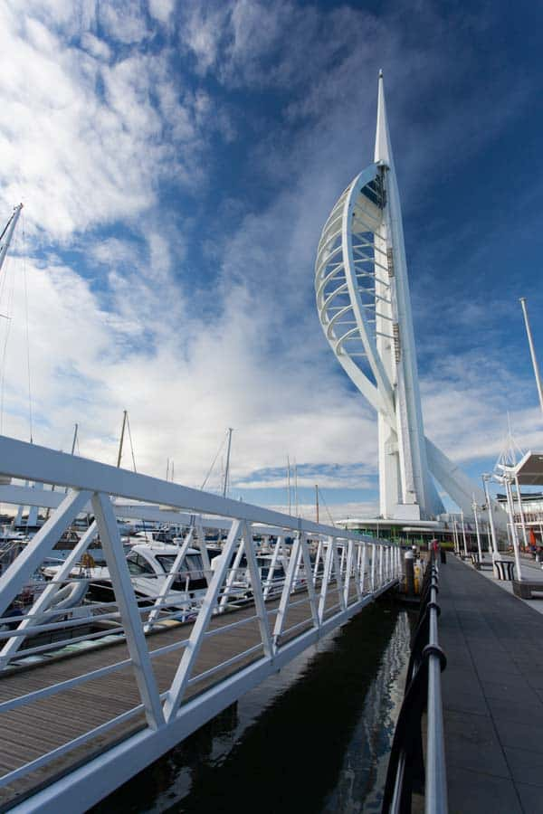 The spectacular Spinnaker Tower in Portsmouth