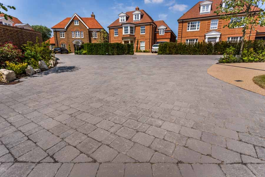 Pictures of Tobermore paving at Pinehurst Grove, Winchester