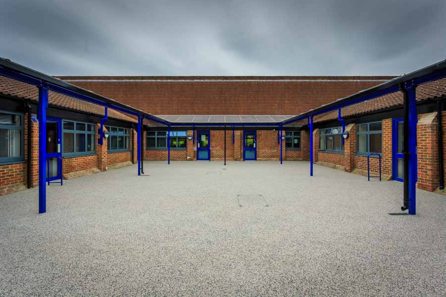 New open space at Mountbatten School in Hampshire by Rick McEvoy