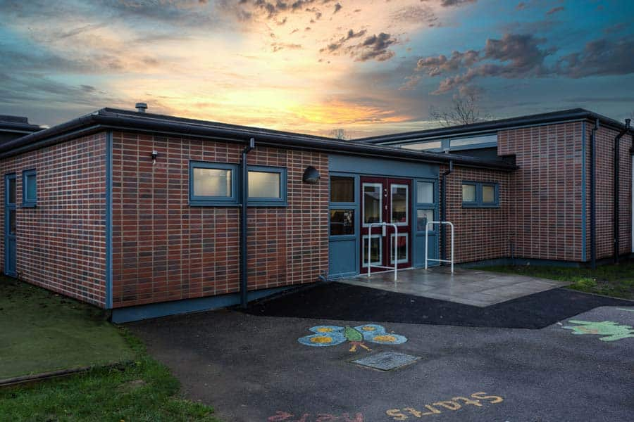 Barton Stacey School with new cladding and roof