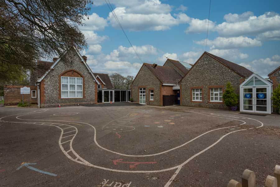 Photo of the refurbished Priory School in Tadley Hampshire