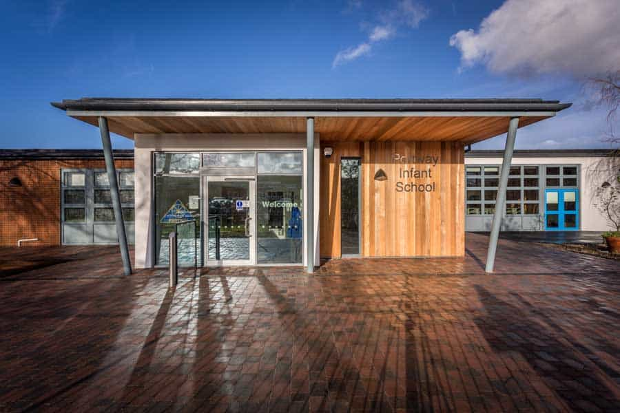 Stylish new entrance to Portway School in Andover