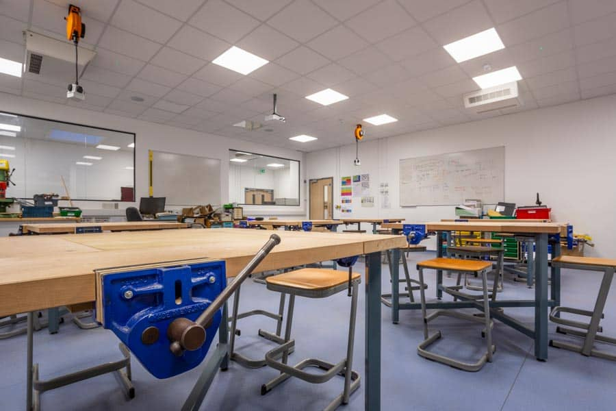 New design technology teaching space at Perins School