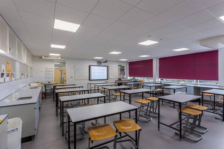 New science teaching space at Arnewood School in Hampshire