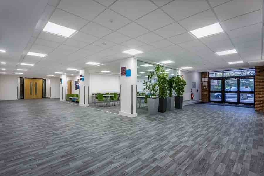 New reception space in Building B58 at the University of Southam