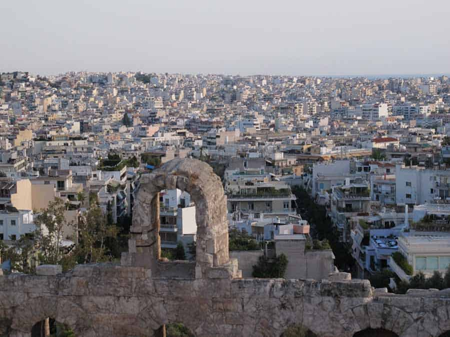 The old and the new in Athens, Greece