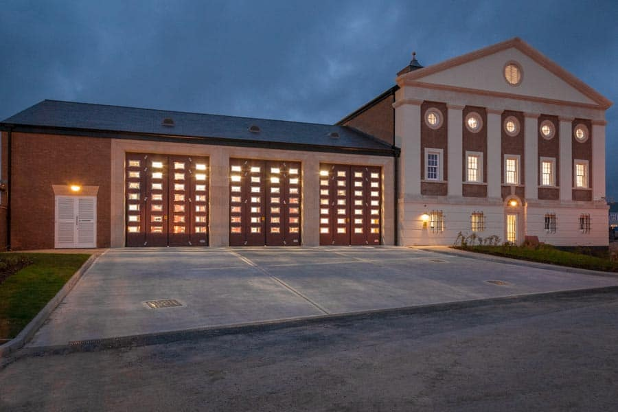 Dorchester Fire Station at night by Rick McEvoy