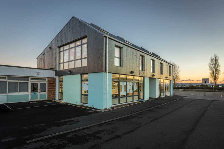Hamworthy Park Junior School extension photographed for Kendall