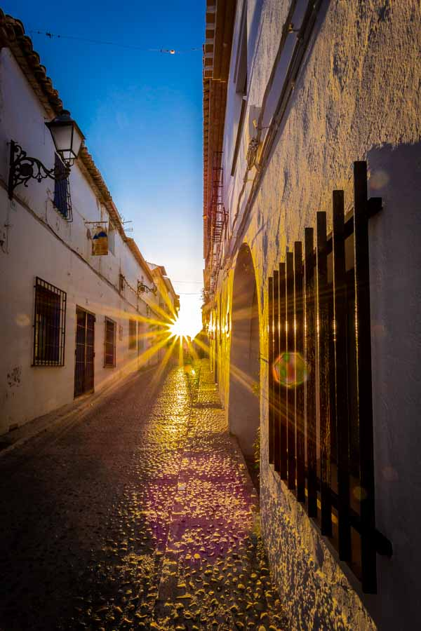 Sunrise in the streets of Altea Spain