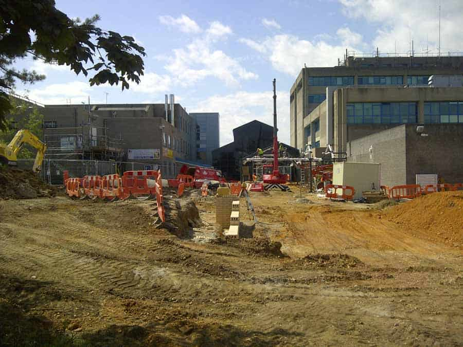 Major construction work at Bournemouth University