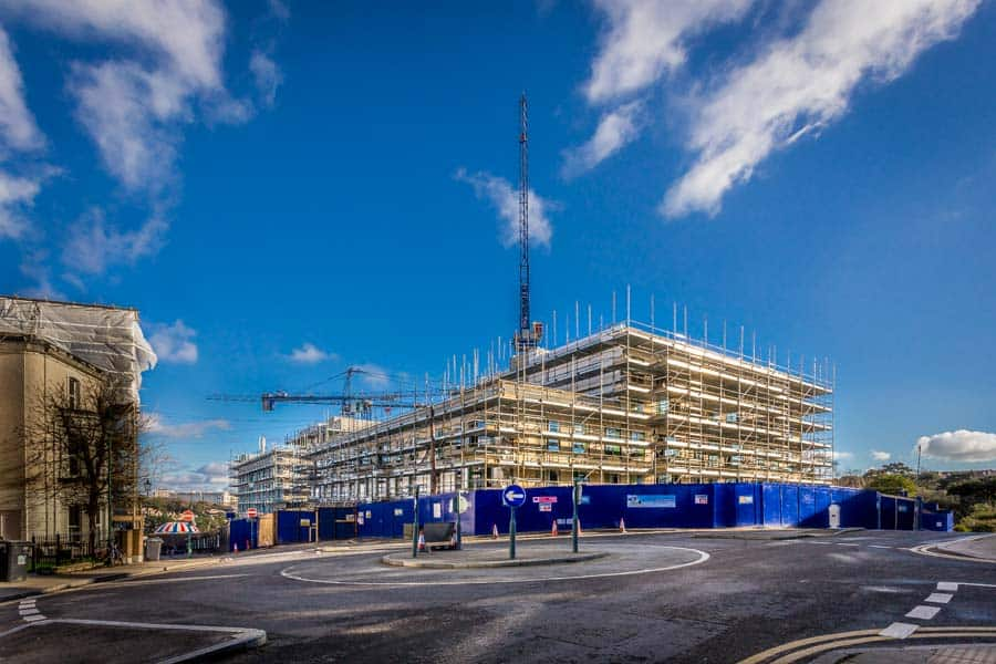 Major development in Bournemouth by construction photographer Ri