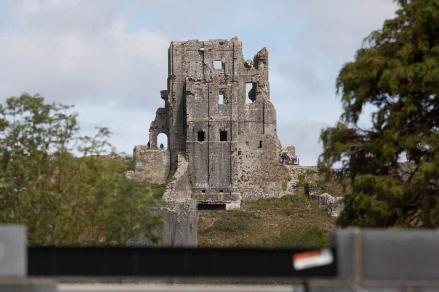 Old construction meets new construction in Corfe Castle