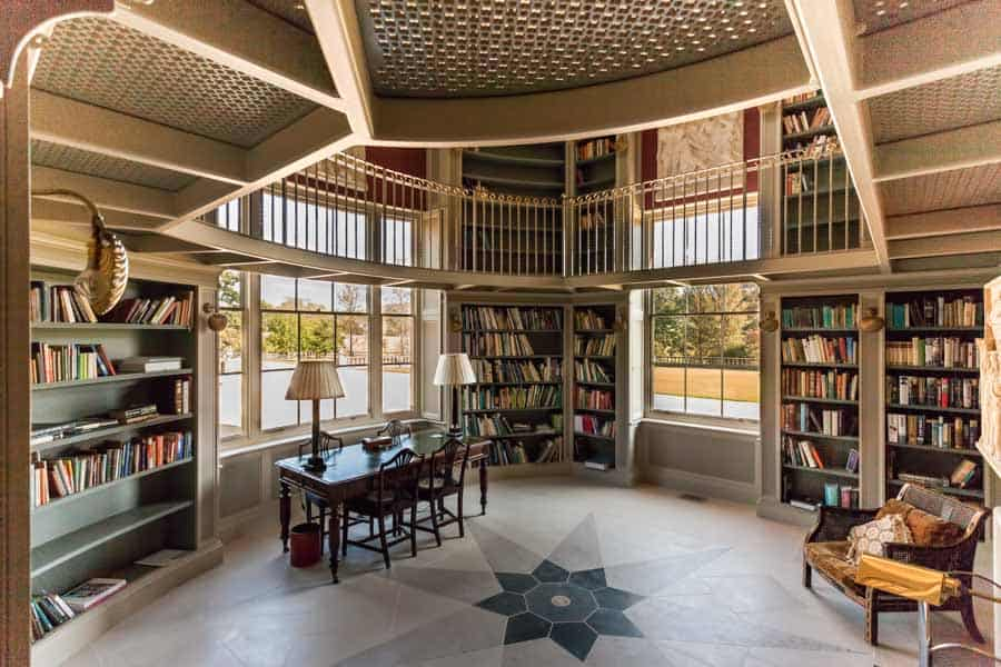 Private library by Rick McEvoy Architectural Photographer in Dor