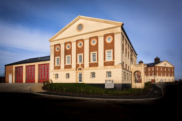 Dorchester Fire Station and DFRS HQ by Rick McEvoy architectural photographer in Dorset