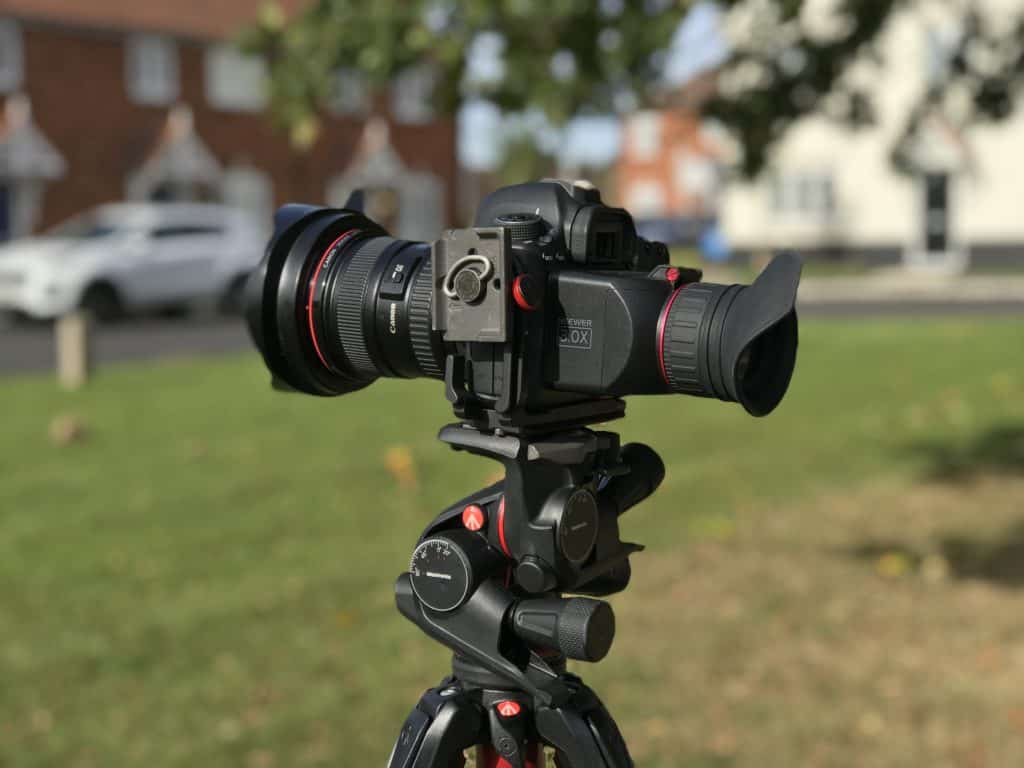 My Canon 6D on location