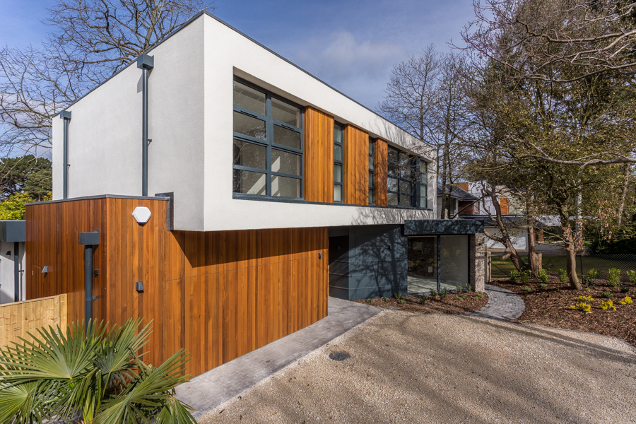 Front elevation of a stylish house in Poole Dorset